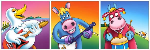 CD cover illustrations - Moo Music