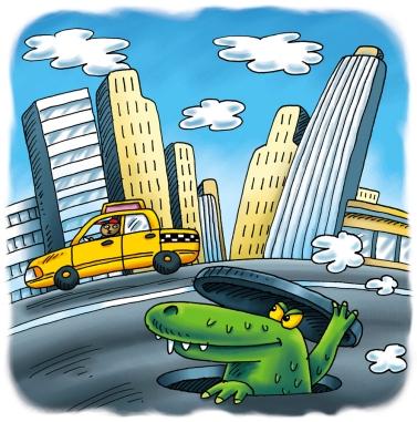Alligator in New York