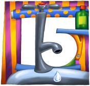 No 15 of hotel door number series