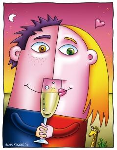 Illustration for Wedding Invite